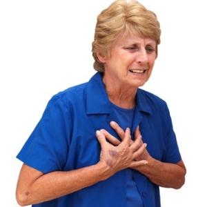 Einengende Schmerzen in der Brust