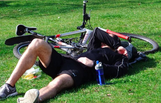 Fahrradtour-Pause