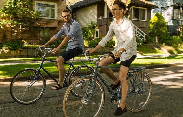 Rad fahren- aufrechte Haltung